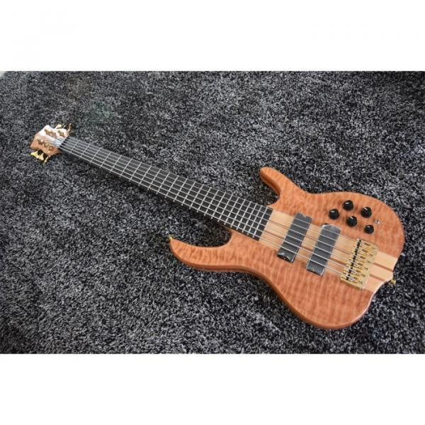 Custom 6 String Quilted Ken Smith Bass Red LED Inlay and Side Markers #3 image