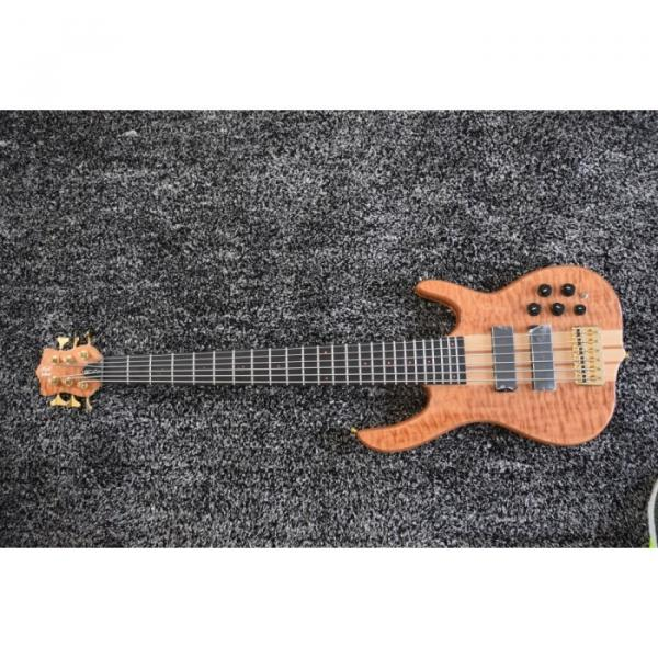 Custom 6 String Quilted Ken Smith Bass Red LED Inlay and Side Markers #4 image
