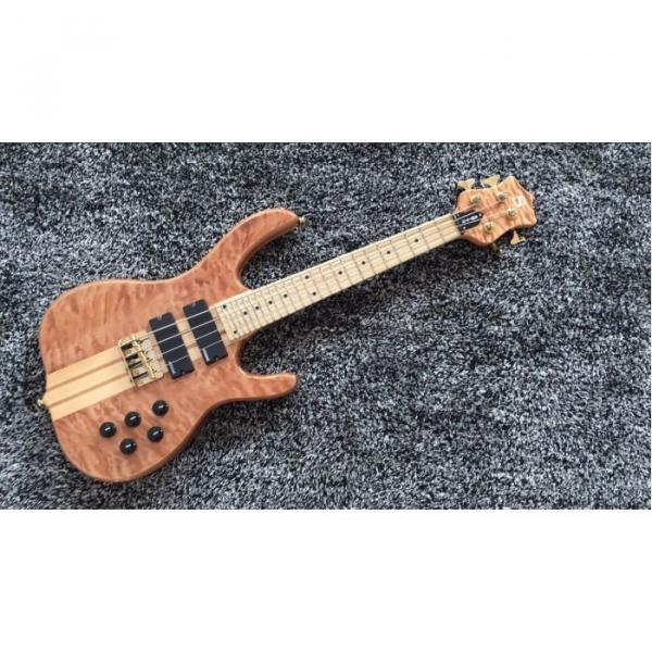 Custom 4 String Ken Smith Bass Maple Fretboard 21.5 inch scale length Neck through body #1 image