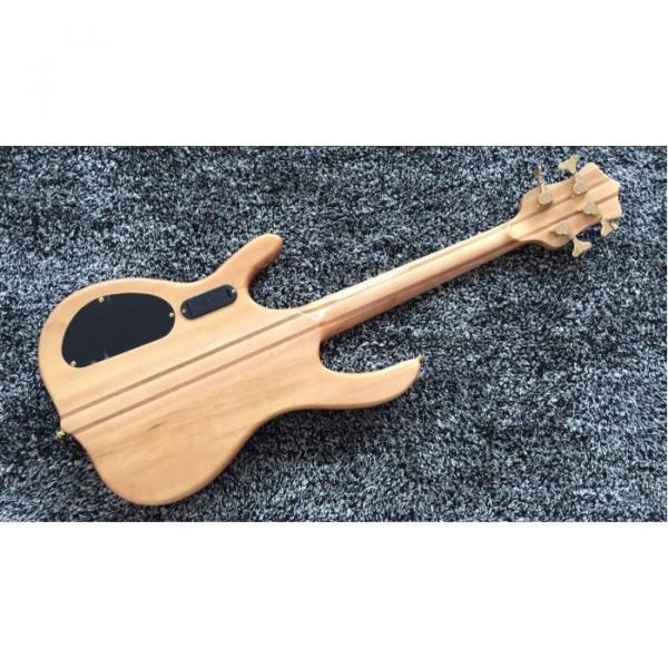 Custom 4 String Ken Smith Bass Maple Fretboard 21.5 inch scale length Neck through body #4 image