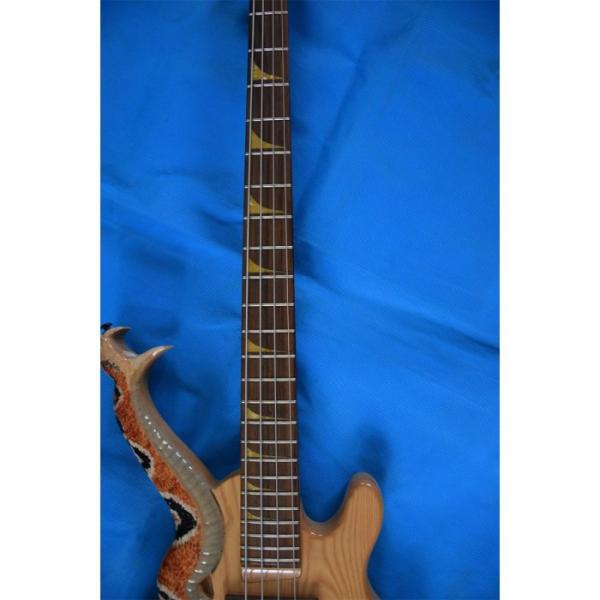 Custom 4 String Cobra Snake Hand Painted Electric Bass Carved Japan Parts #2 image