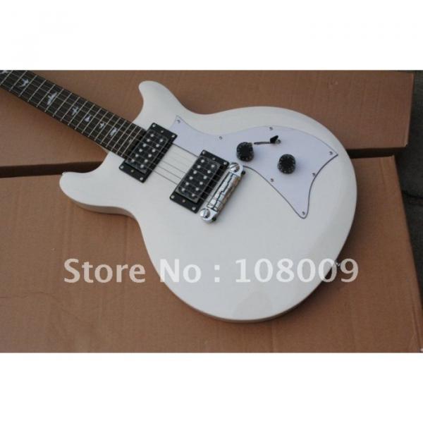 White PRS Mira Bird Inlay 2 Zebra Pickups Electric Guitar #1 image