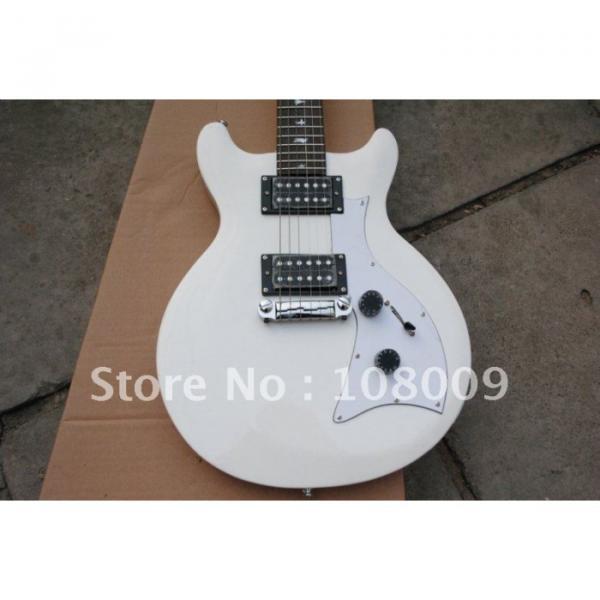 White PRS Mira Bird Inlay 2 Zebra Pickups Electric Guitar #3 image