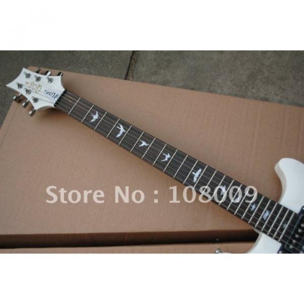 White PRS Mira Bird Inlay 2 Zebra Pickups Electric Guitar #4 image