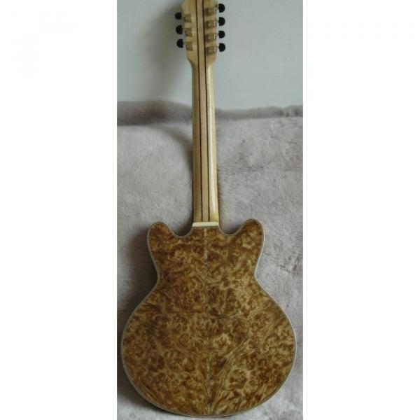 The Top Guitars Brand Natural Wood Handmade Electric Jazz Guitar #3 image