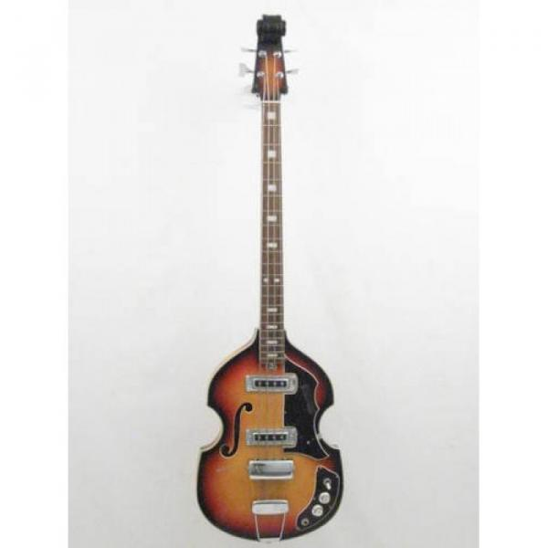 Vintage Silvertone Brand Violin Style 4 String Electric Bass Guitar #1 image