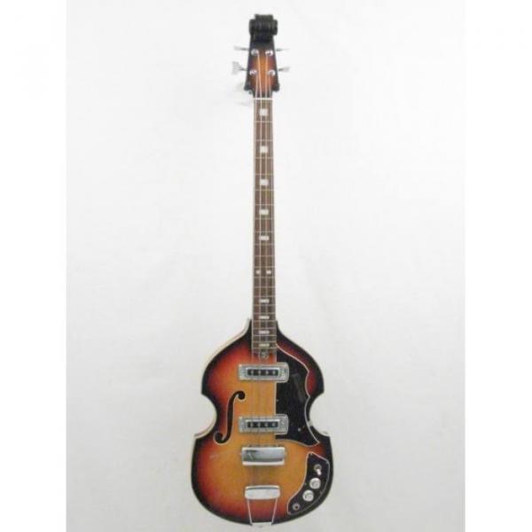 Vintage Silvertone Brand Violin Style 4 String Electric Bass Guitar #3 image