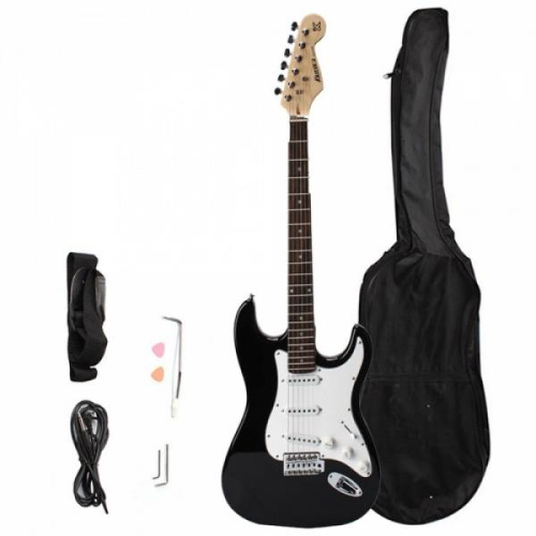 Rosewood Fingerboard Electric Guitar with Gig bag & Accessories Monochrome #1 image