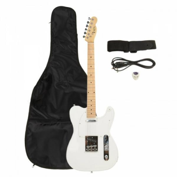 Professional Electric Guitar White with Amplifier Bag Strap Tool Pick #1 image