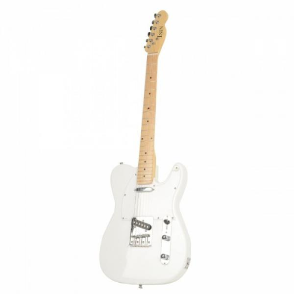 Professional Electric Guitar White with Amplifier Bag Strap Tool Pick #4 image