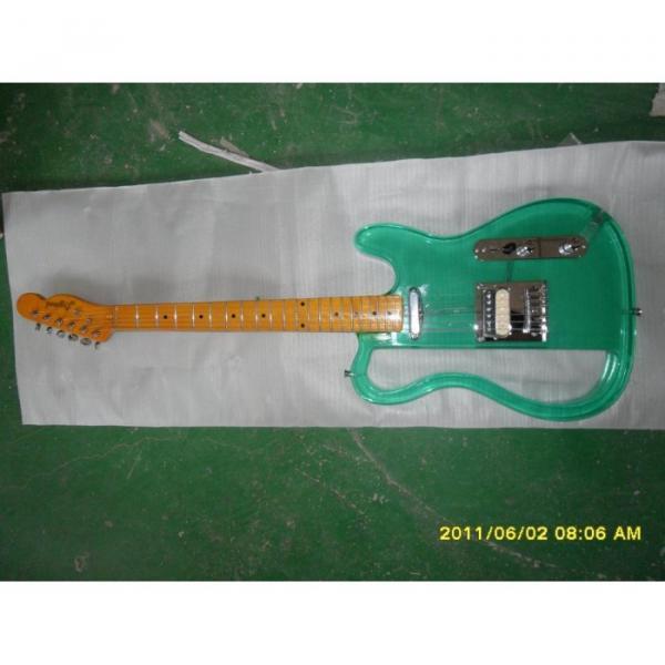 Logical SG Acrylic Green Electric Guitar #1 image
