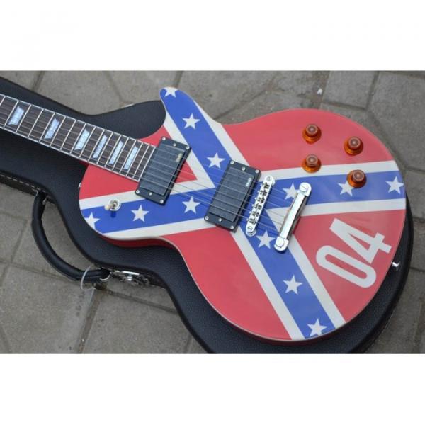 LP Flag Rebel Confederate Electric Guitar #1 image