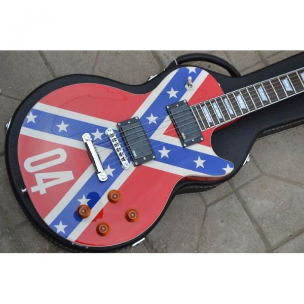 LP Flag Rebel Confederate Electric Guitar #3 image