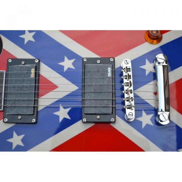 LP Flag Rebel Confederate Electric Guitar #5 image