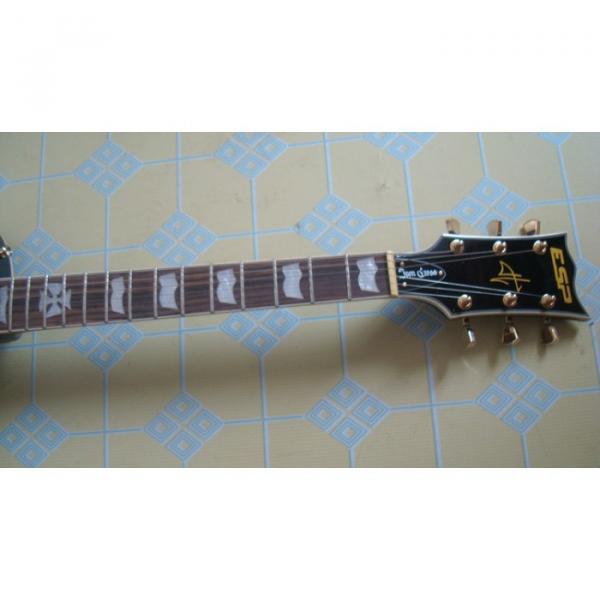 Custom Black ESP Black Beauty Electric Guitar #11 image