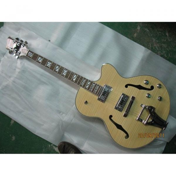 Logical Crown Cream Wave Hollow Body Electric Guitar #1 image