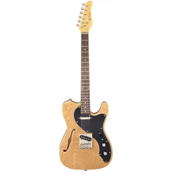 Jay Turser LT-CUSTOMDLX Series Electric Guitar Natural #1 image