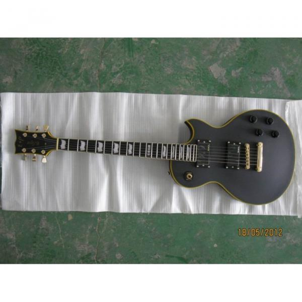 Custom Shop ESP Matt Finish Black Electric Guitar #5 image