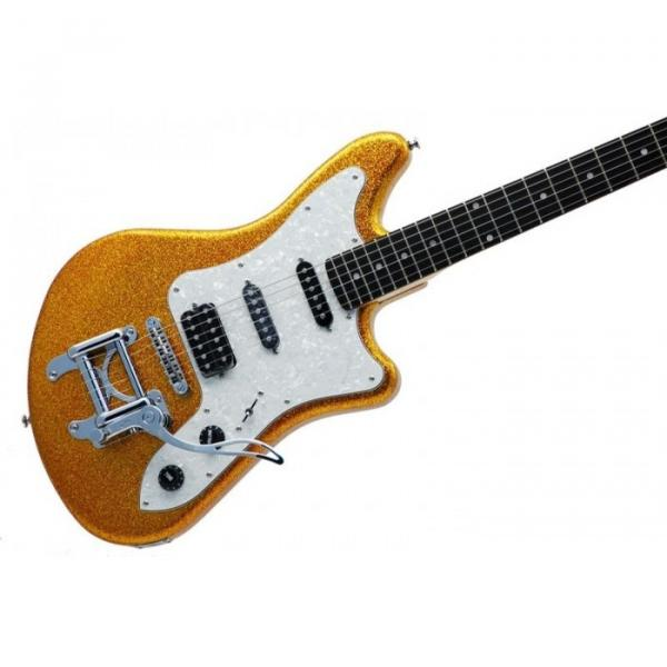 Eko Camaro Gold Sparkle Italian Designed Electric Guitar With Vintage Tremolo #1 image