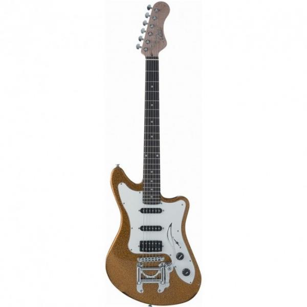 Eko Camaro Gold Sparkle Italian Designed Electric Guitar With Vintage Tremolo #3 image