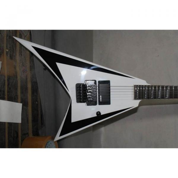 ESP Flying V White Black Electric Guitar #1 image
