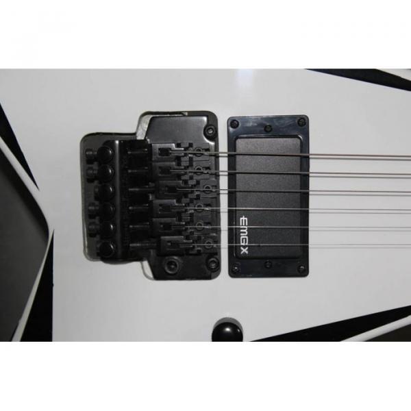 ESP Flying V White Black Electric Guitar #2 image