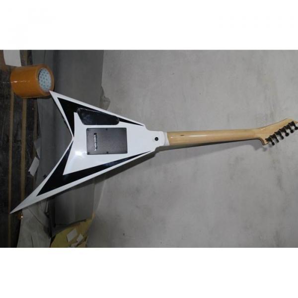 ESP Flying V White Black Electric Guitar #3 image
