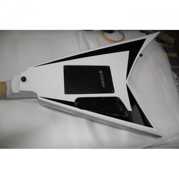 ESP Flying V White Black Electric Guitar #4 image