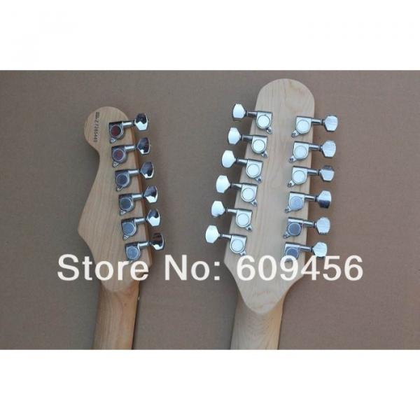 Double Neck Fender Stratocaster Vintage White Electric Guitar #4 image