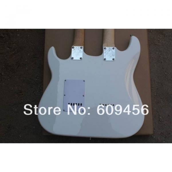 Double Neck Fender Stratocaster Vintage White Electric Guitar #5 image