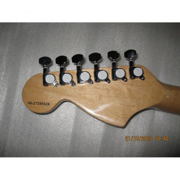 Custom Yellow Fender Stratocaster Floyd Rose Tremolo Electric Guitar #2 image