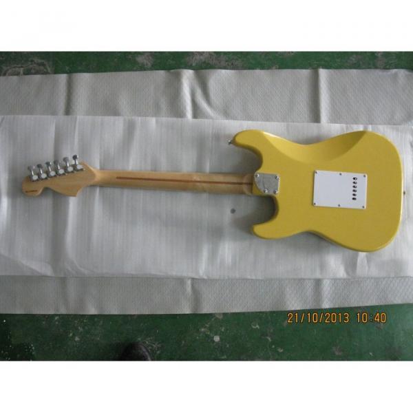 Custom Yellow Fender Stratocaster Floyd Rose Tremolo Electric Guitar #5 image