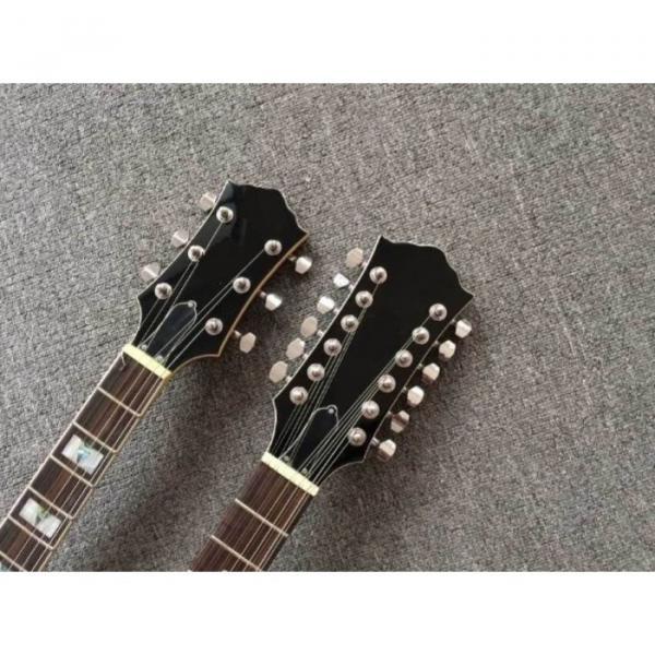 Custom Telecaster 6 String 12 String Electric Guitar Double Neck Sunburst Left Handed #3 image