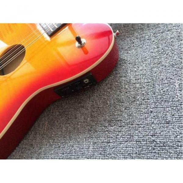 Custom Telecaster 6 String 12 String Electric Guitar Double Neck Sunburst Left Handed #4 image