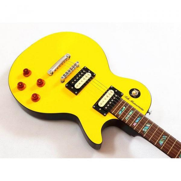 Custom Shop Yellow Tak Matsumoto Electric Guitar #4 image
