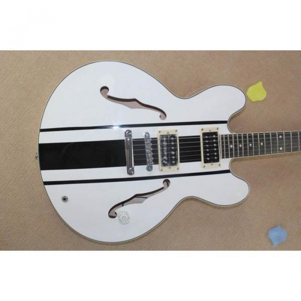 Custom Shop Tom Delonge ES-333 White Electric Guitar #1 image