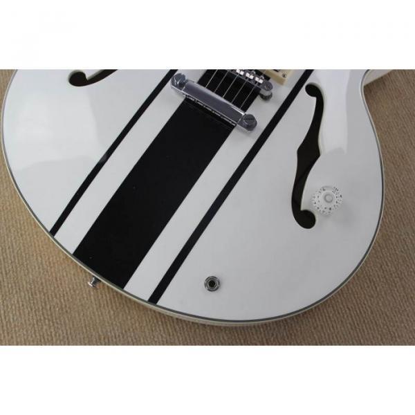 Custom Shop Tom Delonge ES-333 White Electric Guitar #2 image