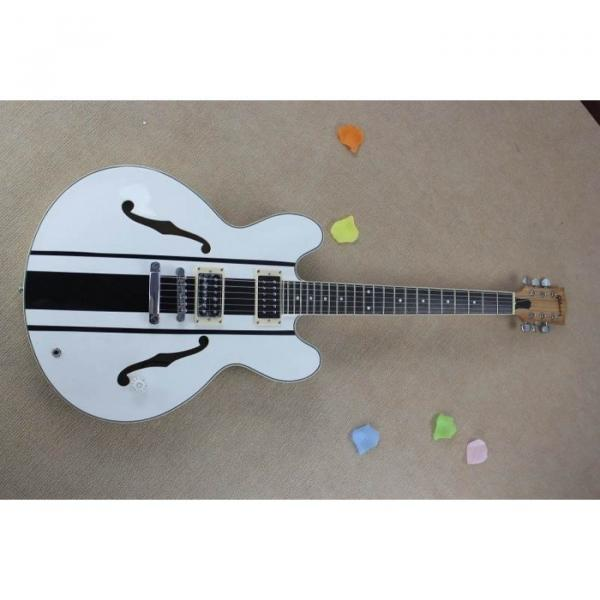 Custom Shop Tom Delonge ES-333 White Electric Guitar #3 image