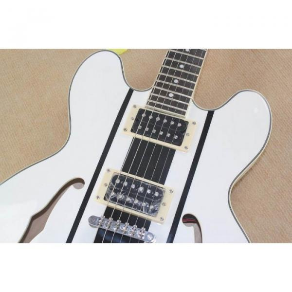 Custom Shop Tom Delonge ES-333 White Electric Guitar #4 image