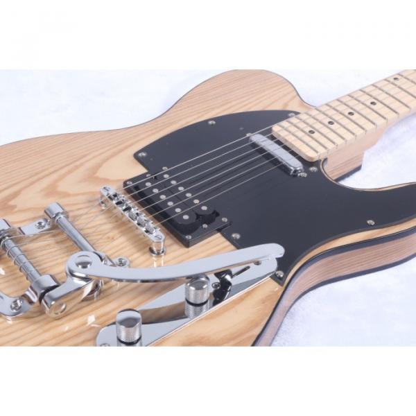 Custom Shop Telecaster Floyd Rose Tremolo Natural Electric Guitar #5 image