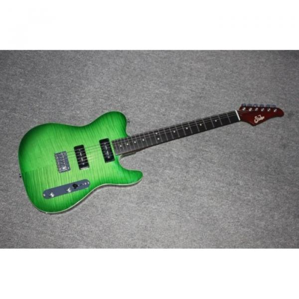 Custom Shop Suhr Green Maple Top Tele Style 6 String Electric Guitar #1 image