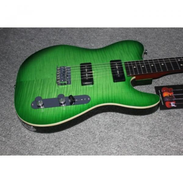 Custom Shop Suhr Green Maple Top Tele Style 6 String Electric Guitar #5 image