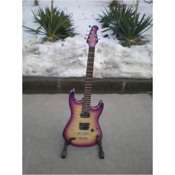 Custom Shop Suhr Quilt Maple Top Transparent Natural Fade Purple Electric Guitar #1 image