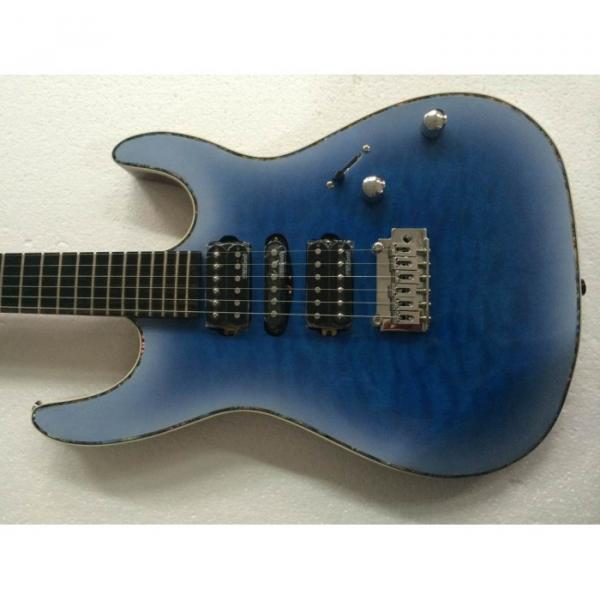 Custom Shop Suhr Quilt Maple Top Transparent Natural Fade Blue Burst Electric Guitar #1 image