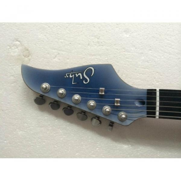 Custom Shop Suhr Quilt Maple Top Transparent Natural Fade Blue Burst Electric Guitar #5 image