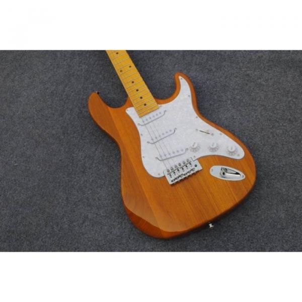 Custom Shop Stratocaster Natural Wood Grain Electric Guitar #1 image