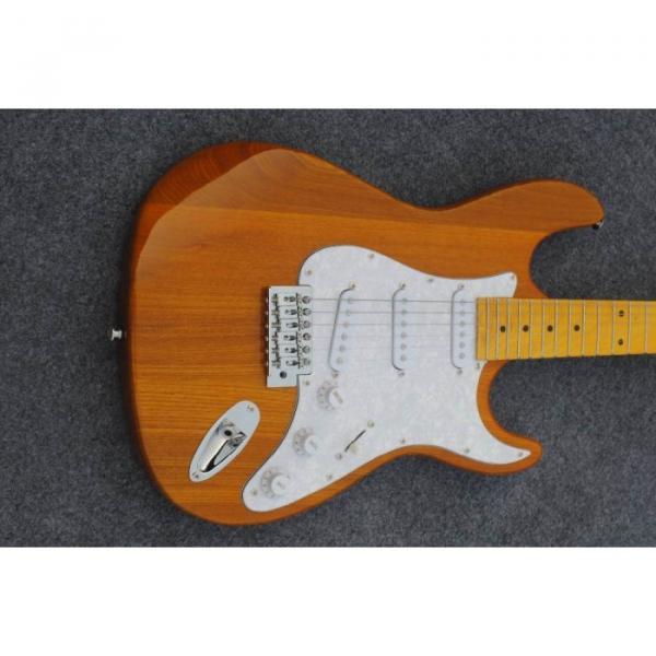 Custom Shop Stratocaster Natural Wood Grain Electric Guitar #4 image