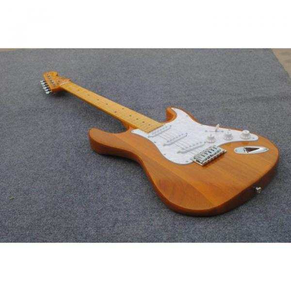 Custom Shop Stratocaster Natural Wood Grain Electric Guitar #5 image
