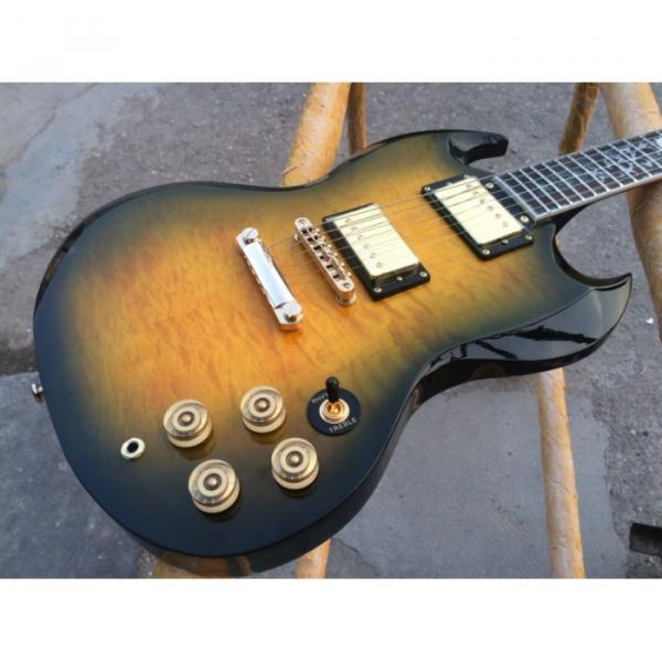 Custom Shop SG G400 Yellow Quilted Maple Electric Guitar #1 image
