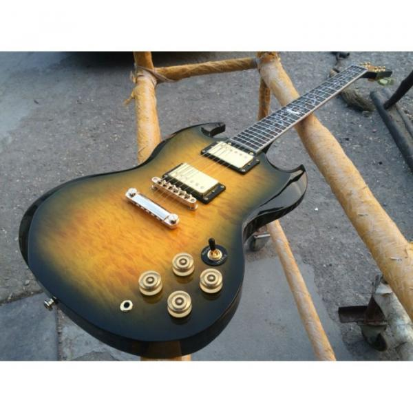 Custom Shop SG G400 Yellow Quilted Maple Electric Guitar #4 image